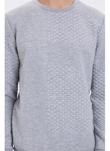 Loft Loft Uzun Kollu Melanj Erkek Sweatshirt Gri
